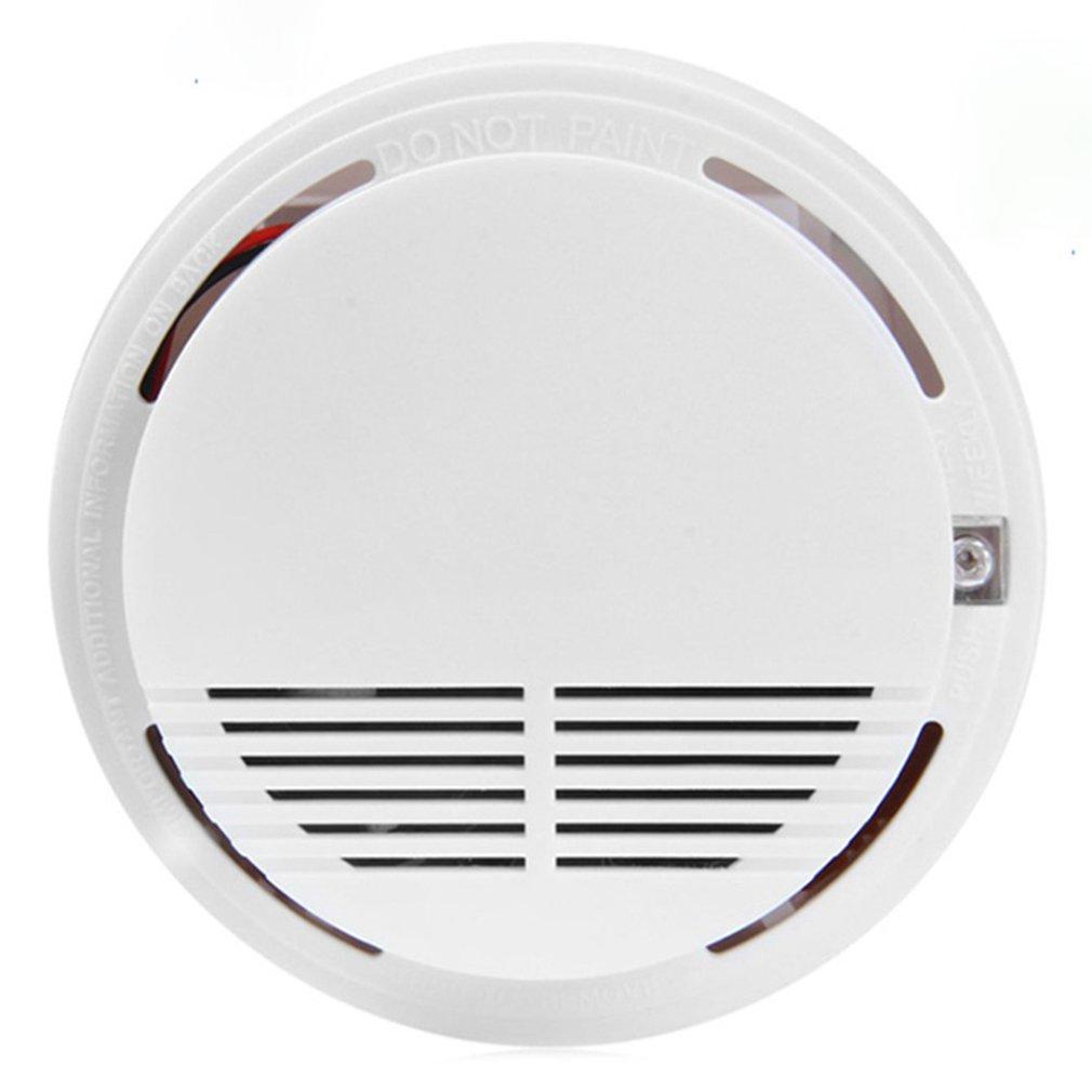 1pcs Smoke Detector Fire Detector Alarm Sensitive Photoelectric Independent Fire Smoke Sensor For Home Office Shop Home