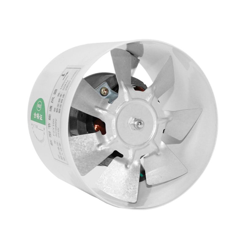 4Inch Air Ventilator Metal Pipe Air Ventilation Exhaust Fan Mini Extractor Bathroom Toilet Wall Fan For Kitchen