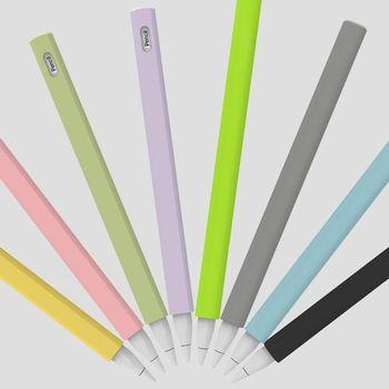 Trójkąt Anti-scroll silikonowy pokrowiec ochronny pokrowiec uchwyt stalówka pokrywa skóra dla Apple Pencil 2 dla iPad Pencil 2nd tanie i dobre opinie BGEKTOTH CN (pochodzenie) Pojemnościowy ekran 20202020