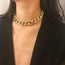 Punk ouro grosso colar de corrente para as mulheres moda hip hop exagerada grande chunky colar colares festa jóias presente