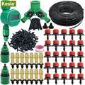 KESLA 5 м-30 м DIY автоматические садовые наборы для полива воды контроллер таймер микро капельного запотевания орошения газон двор зеленый шлан...