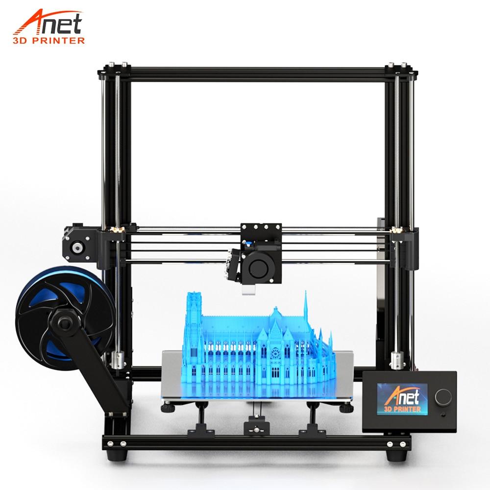 New Grande Tamanho de Impressão Anet E10 E12 3D Impressora Com 8 GB Micro Leitor de Cartão SD USB Conector Baixo Ruidoso fácil Montagem