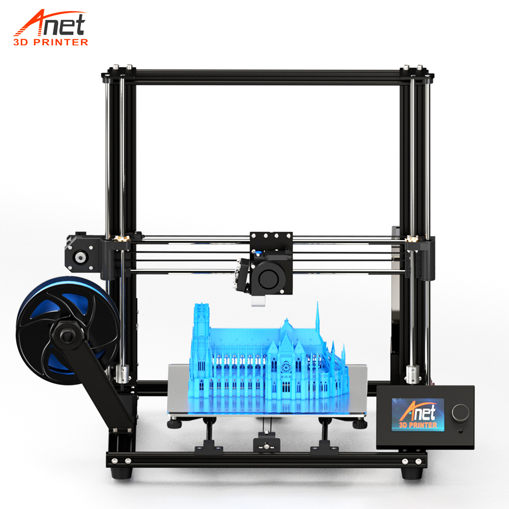 New Large Print Size A8 Plus Anet 3D Printer DIY Desk 3D FDM Printer 8GB Micro SD Card USB Connector Low Noisy Easy Assembly