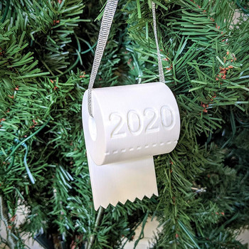 2020 Quarantine Christmas Ornament Christmas Tree Hanging Toilet Paper Crisis Ornament Decoration 2020 Adornos navideños image