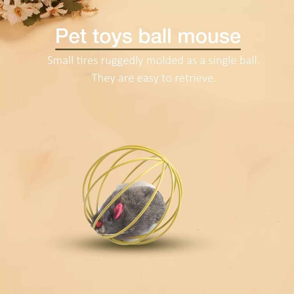 Casuale Bello Regalo Divertente Giocare Giocattoli False Mouse in Rat Cage Ball Per Pet Cat Kitten Popolare Divertente Gioca Giocattoli pallina del Mouse best Regalo