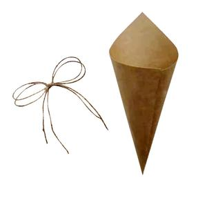 Image 2 - 30 Uds. De confeti personalizado para boda, pétalos de papel kraft, conos de confeti naturales para decoración de fiesta de cumpleaños o boda