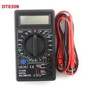 DT830B Digital Multimeter Voltmeter Ammeter Ohmmeter DC10V~1000V 10A AC 750V Current Tester Test LCD Display(China)