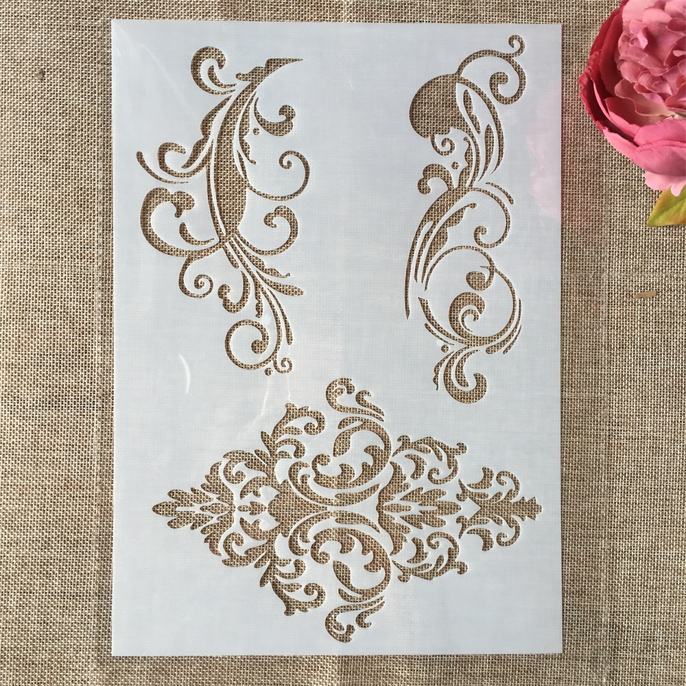 29cm A4 Frame Edge DIY Layering Stencils Wall Painting Scrapbook Coloring Embossing Album Decorative Paper Card Template