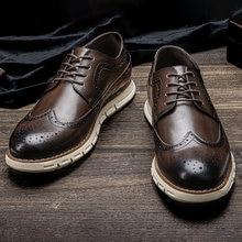 Hommes décontracté chaussures en cuir Taille 8-12 confortable WOOTTEN marque Bullock chaussures pour hommes de mode 2021 chaussures pour hommes # AL527