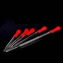 5 шт. 10 мл Красная резиновая головка стеклянная пипетка медицинская лаборатория прозрачная пипетка лабораторные стеклянные инструменты длина 120 мм