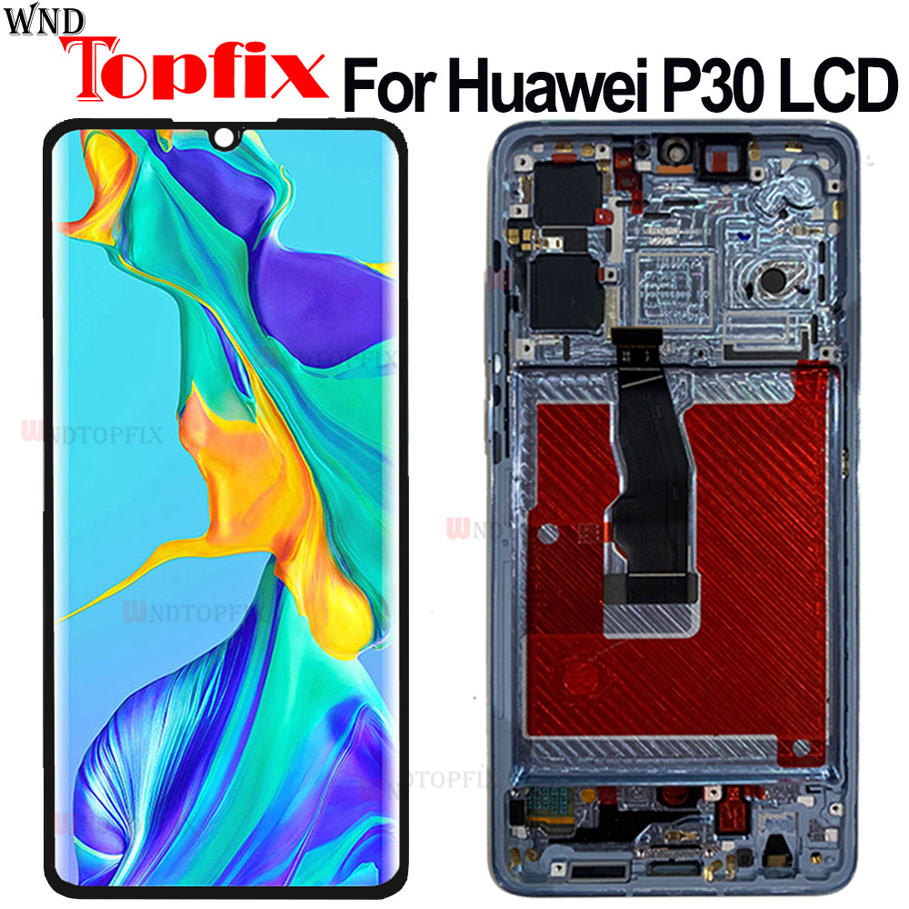100% Tested For Huawei <font><b>P30</b></font> <font><b>LCD</b></font> Display with Touch Screen Digitizer Assembly Replacment For Huawei <font><b>P30</b></font> ELE-L29 L09 AL00 <font><b>LCD</b></font> image