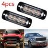 4Pcs 4 LED Auto LKW Notfall Amber Beacon Panne 12/24V Hellgelbes Licht Waterproof IPX-4 Strobe Lights