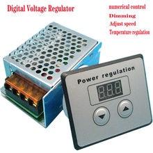 En kaliteli 4000W 220V AC SCR Voltaj Regülatörü Sönük Elektrik Motor Hız sıcaklık kontrol cihazı için SU ISITICI Küçük Motorlar