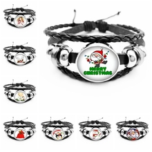 HOU ! 2019 New Hot Christmas Happy Cool Cartoon Pattern Glass Series Convex Mens Fashion Bracelet Gift