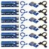 6 pieces VER006C USB 3.0 PCI-E Riser VER 009S Express 1X 4x 8x 16x Extender Riser Adapter Card SATA 15pin to 6 pin Power Cable