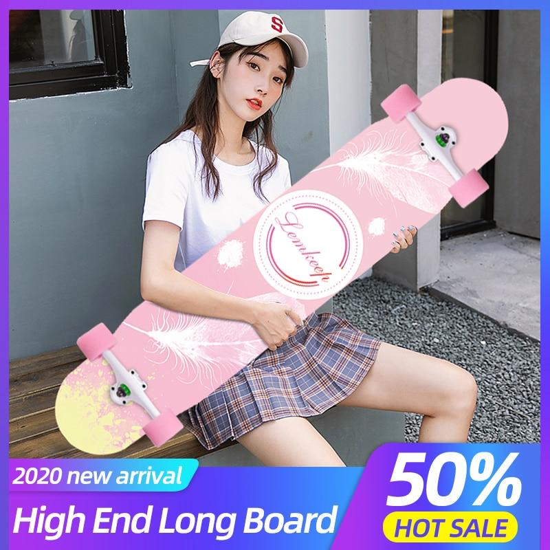 Dancing Longboard MS412 Professional Skateboard Russia Maple Deck Skate Board Abec-11 Chrome Bearing Boys And Girls Long Board