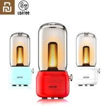 Yeni Youpin Lofree CANDLY Retro ışık USB şarj/şarj standı İki işık modları sıcak olarak hiç sıcak çevreleyen duygu