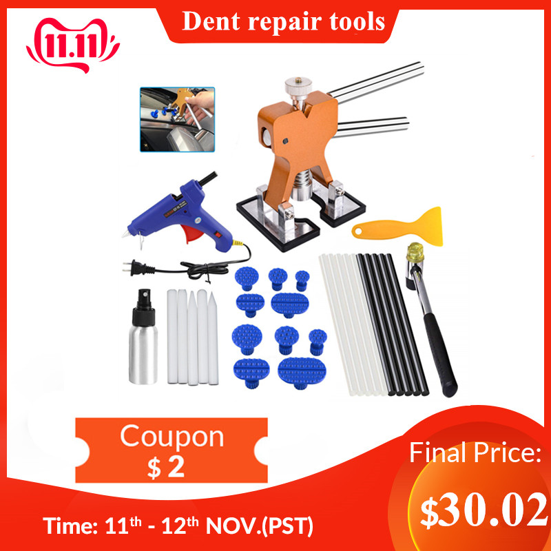 DIY PDR Car Body Paintless Dent Repair Remover Tools Paintless Dent Removal Puller Dent Lifter Kits Puller Lifter