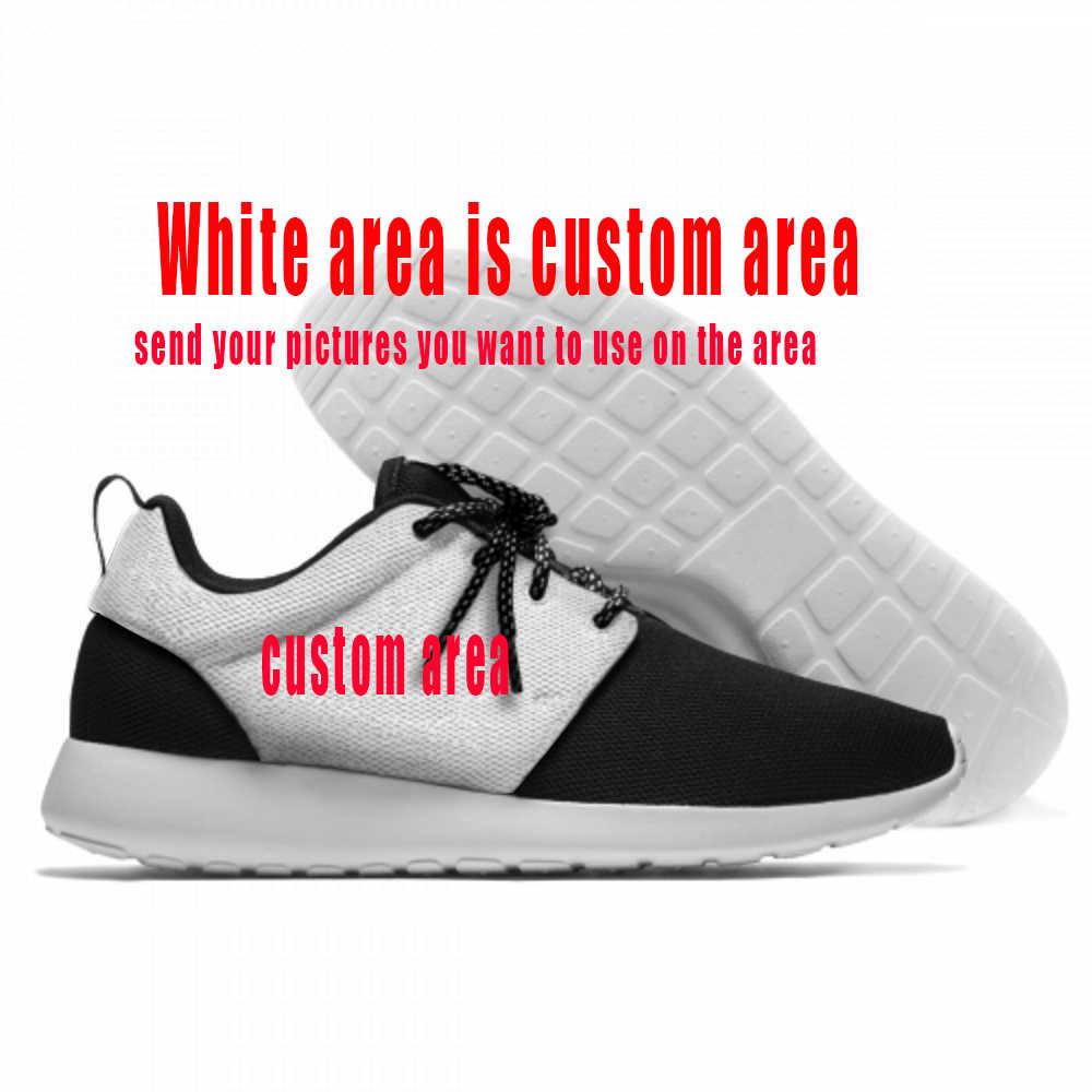 Uang Heis La Casa De Papel Rumah Kertas Fashion Sport Sepatu Lari Ringan Bernapas 3D Dicetak Pria Wanita Mesh sepatu Kets