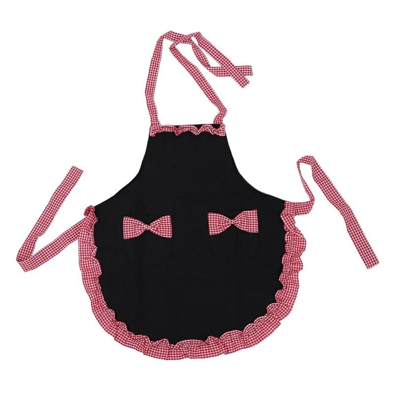 Ev ve Bahçe'ten Önlükler'de Uhome moda güzel prenses kırsal tarzı pamuk izgara desen çalışma şefler mutfak pişirme Cook bayan bayanlar fantezi hizmetçi seti Ap title=