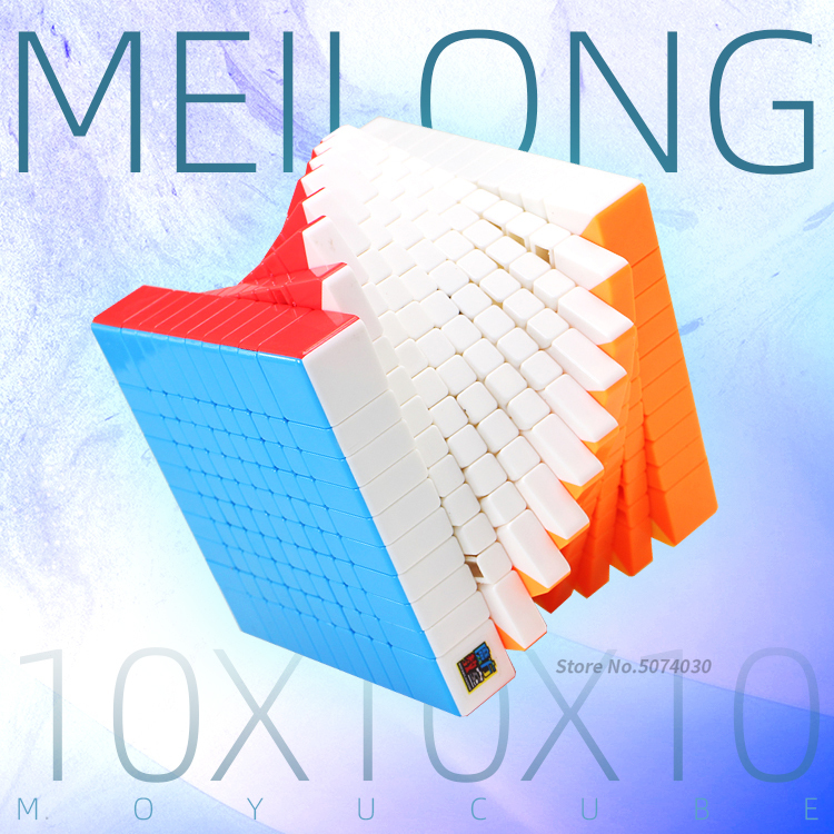 10x10 Cube Moyu Meilong Stickerless Frosted Surface 10x10x10 Magic Speed Cube Twist Puzzle 10 Layer Cubo Education Toy