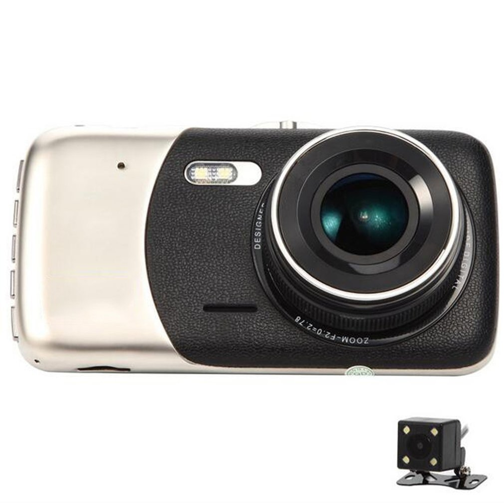 4 Polegada IPS Full HD 1080P Car Driving Recorder Dashcam DVR Carro Gravador de Condução Grande Angular Lente de visão noturna painel do carro Cam