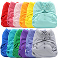 Asenappy Solid Color Cloth Diaper Cover Waterproof Baby Washable Diapers Reusable Cloth Nappies Fit 3 - 15 Kg