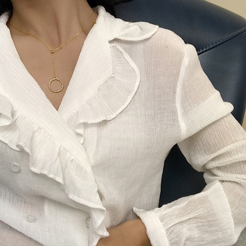 Leouerry 925 пробы серебро креативный венок подвеска ожерелье