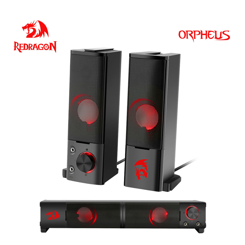 Redragon Orpheus GS550 aux 3.5mm stereo surround music smart speakers column sound bar computer PC home notebook TV loudspeakers 1