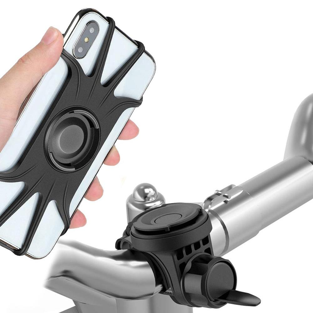 Universal Bicycle Bike Magnetic Phone Holder Silicone Motorcycle Bicycle Handlebar Mount Phone Holder Mount For IPhone