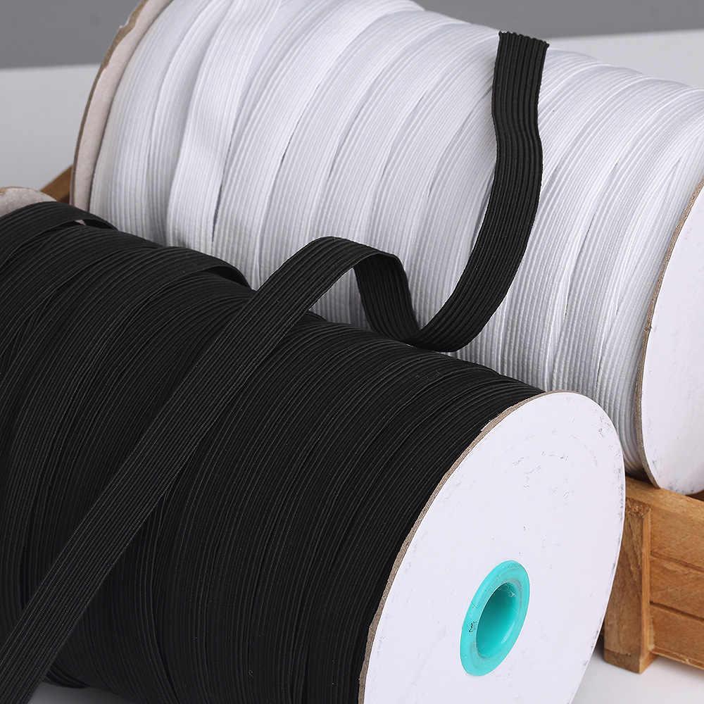 Máscaras de banda elástica, Blanco, Negro, 3mm, 5mm, 6mm, 8mm, 10mm, 12mm, alta elasticidad, banda de goma plana, Banda de la cintura, costura, cuerda elástica, máscara DIY