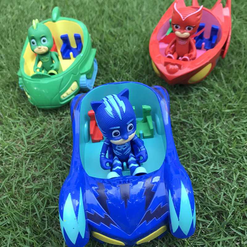 Pj Mask Juguete Children Toy Car Catboy Owlette Gekko With Music And Light Cartoon Action Figures Toys For Children Car Gift S66