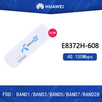 Unlocked Huawei E8372h 608 Wingle LTE Universal 4G USB MODEM WIFI Mobile Support 10 Wifi Users