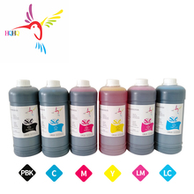 6pcs/set 1000ml Dye ink Special Use for Epson Stylus Color 9000  Printer High quality Dye ink 8 color 1000ml pigment printer ink for epson 7880