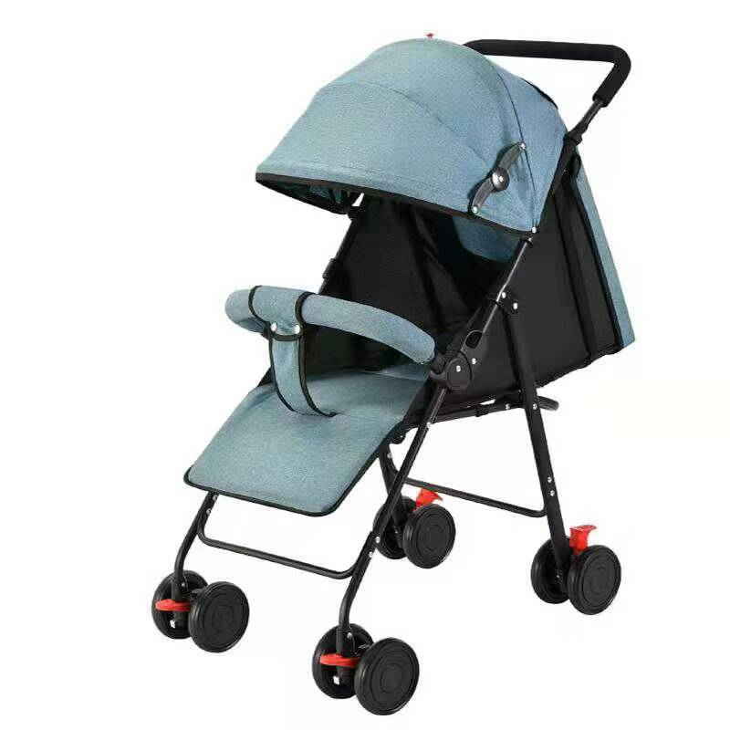 High Landscape Baby Carriage Foldable and Disassembled Trolley Umbrella Car
