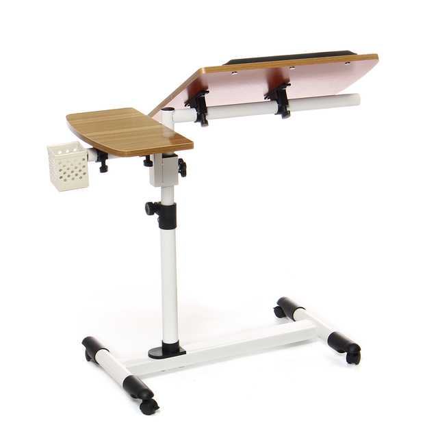 Adjustable Angle And Height Rolling Desk Stand  4