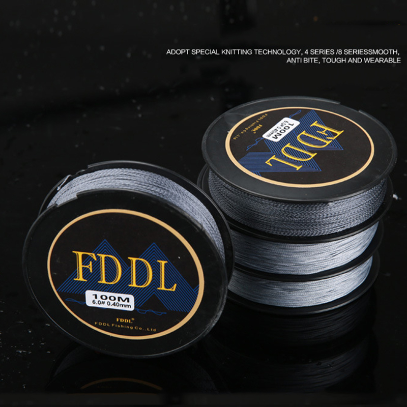100 Meters Strong Fishing Line Super Power Fish Lines Wire PE Nylon Line Multifilament Fishing Wire Carp Fishing Braided Wire 12