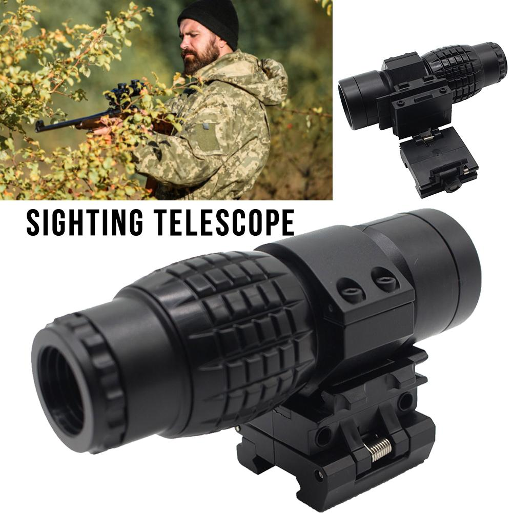 Optic Sight 3X Magnifier Hologram Sight Scope Compact Hunting Riflescope Sights Black Matte Fit For Rifle Gun Rail Mount 4