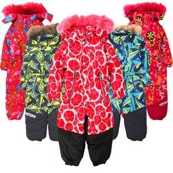 Kinder einteiliges ski anzug plus samt stepp padded winddicht wasserdicht männer und frauen baby Siamese ski anzug