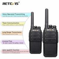 מכשיר הקשר 2pcs Retevis RT28 מכשיר הקשר 2W CTCSS & DCS VOX UHF מיקרו- USB תדר מטען שני הדרך רדיו תחנת רדיו חובבים משדר Hf (1)
