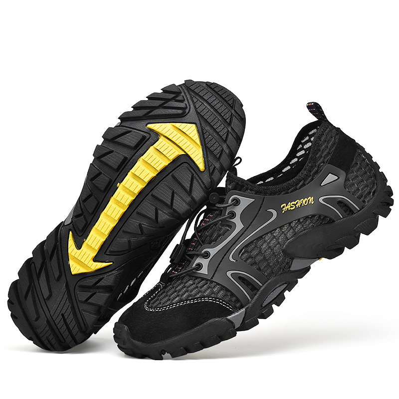 Men Aqua Shoes Trekking Hiking Shoes Breathable Elastic Quick Dry Upstream Socks Soft Non-slip Comfortable Diving Water Sneakers