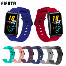 Soft-Silicone-Strap Honor Watch 20mm Haylou Ls02 For Amazfit Bracelet Huawei FIFATA ES