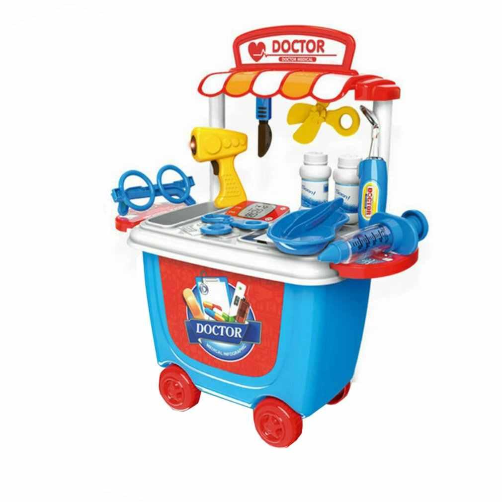 Детская медицинская Чехол комплект с принтом медсестры роль играть в обучение игрушки подарки комплект набор для ролевых игр детская развивающая игрушка