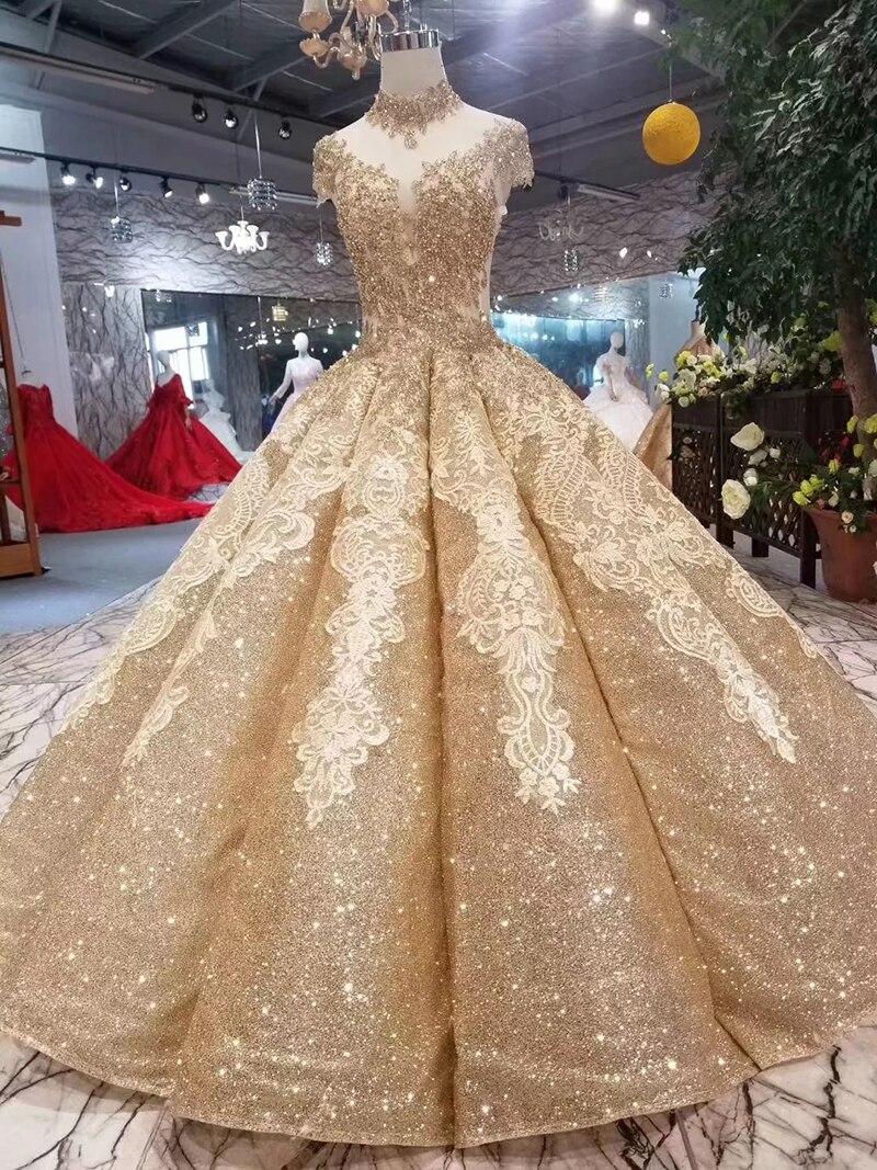 Bgw 2021112ht Shiny Vrouwen Gelegenheid Jurk Baljurk Hoge Hals Cap Mouw Prom Dress Plooi Rok Hart Vormige Open Back jurk