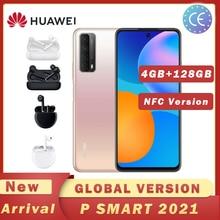 HAUWEI P Smart 2021 telefon komórkowy NFC 48 MP Quad Camera 5000 mAh bateria z Freebuds 3 bezprzewodowa ładowarka Freebuds 3i