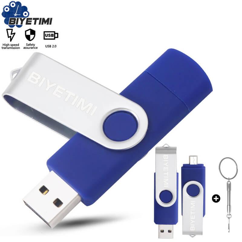 Многофункциональная USB флешка Biyetimi otg 2,0 Флешка 64 Гб cle usb флешка-Флешка 32 ГБ 16 ГБ 8 ГБ 4g Флешка для телефона