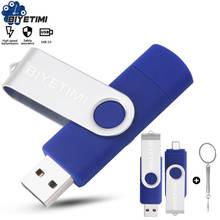 Многофункциональная USB флешка Biyetimi otg 2,0 Флешка 64 Гб cle usb флешка Флешка 32 ГБ 16 ГБ 8 ГБ 4g Флешка для телефона