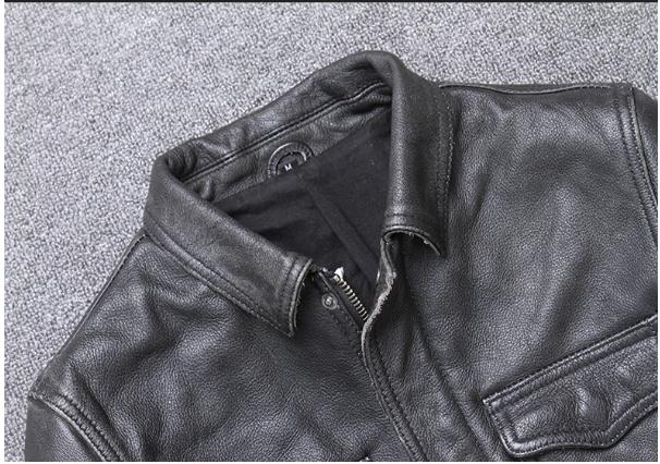 H121e74e224024767afb59ec50ee87e4bv YR!Free shipping.sales.Clearance.$99.99 cowhide jacket.mens genuine leather coat.fashion vintage casual leather outwear.classic