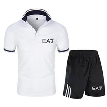 New Hot Sale Men's Sets Round Neck T Shirts+pants Two Pieces Sets Casual Tracksuit Male 2021 Casual Tshirt Print Shorts Men