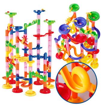 Puzzle dla dzieci utwór piłka bloki 105 sztuk trójwymiarowy labirynt rur Domino bloki zabawki zestaw dla dzieci prezent urodzinowy tanie i dobre opinie Sport Z tworzywa sztucznego 2-4 lat 5-7 lat
